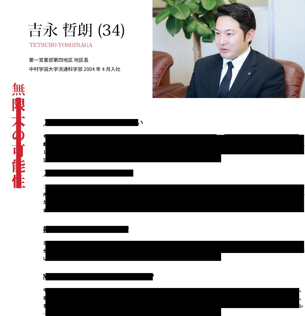 吉永 哲朗 (34)無限大の可能性